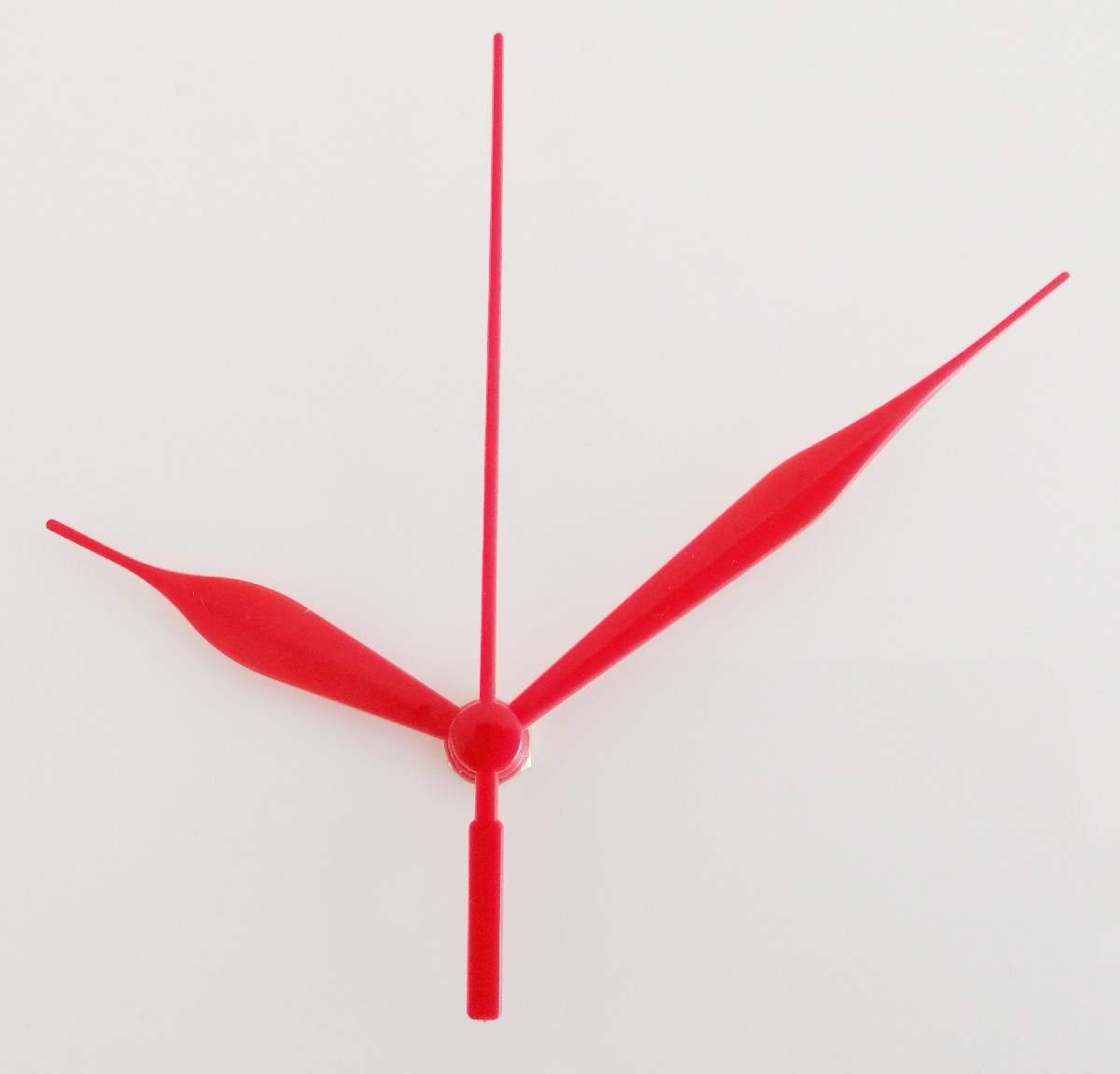 Clock movement with red hands