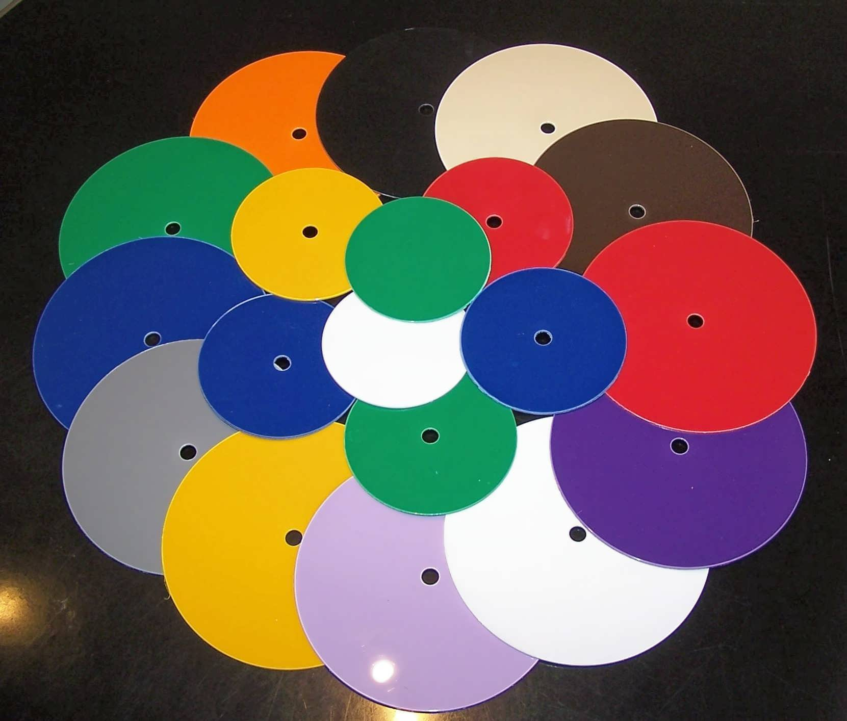 Coloured Clock Dial Blanks
